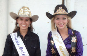 Wild Bill Hickok Rodeo 2015 - Saturday Night Mutton Bustin' Winners - 2nd place – Jade Wilson, 1st place – JJ Boze (back row/left to right) Allie Dwyer, Miss Rodeo K-State; Lauren Heaton, Miss Rodeo America