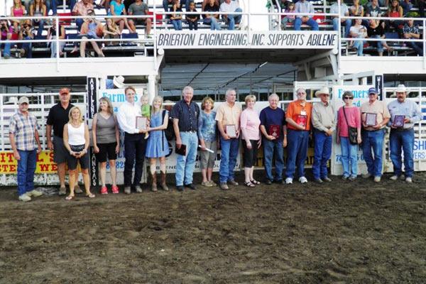20-Year Sponsors Awarded: Abilene Animal Hospital, Pro Sports Medicine, Abilene Reflector Chronicle, Reynolds Real Estate, Abilene Auto Parts, Peterson Cattle Co., Justin Boots, Westar Energy