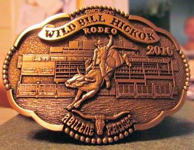 2016 WBHR Collector Series Buckle featuring bull rider Jimmy Crowther - 7th buckle in the 4th Buckle Series