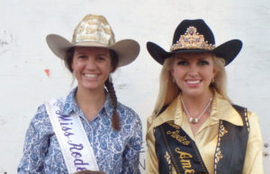 Wild Bill Hickok Rodeo 2015 - Wednesday Night Mutton Bustin' Winners - 2nd place – Grady Oentrich, 1st place – Cael Casteel (back row/left to right) Allie Dwyer, Miss Rodeo K-State; Lauren Heaton, Miss Rodeo America