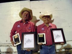 Eric Dockins & Cecil Hoffman honored for 20 years on the Wild Bill Hickok Rodeo Committee