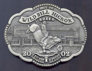 2002 WBHR Collector Series Buckle featuring John McDonald, bull riding - 7th buckle in the 2nd Buckle Series