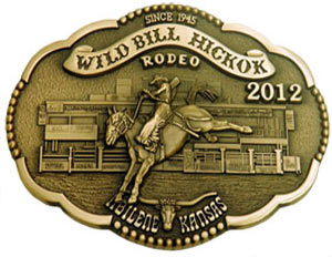 2012 WBHR Collector Series Buckle featuring Keegan Knox, saddle bronc riding - 3rd buckle in the 4th Buckle Series