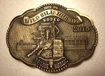 2015 WBHR Collector Series Buckle featuring barrel racer Micah Samples - 6th buckle in the 4th Buckle Series